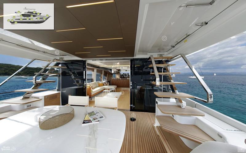 Découvrez les visites virtuelles 360° des Yachts PRESTIGE