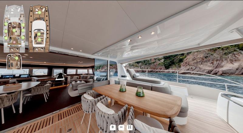 Découvrez les visites virtuelles 360° des catamarans Lagoon
