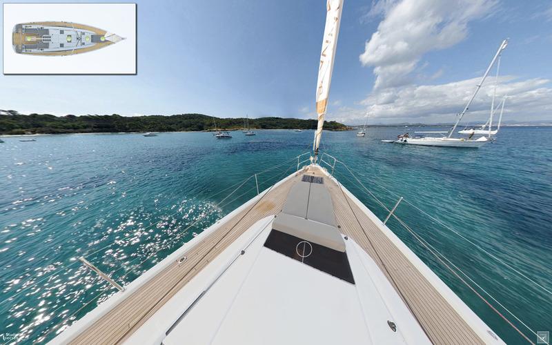 Découvrez les visites virtuelles 360° des voiliers Jeanneau